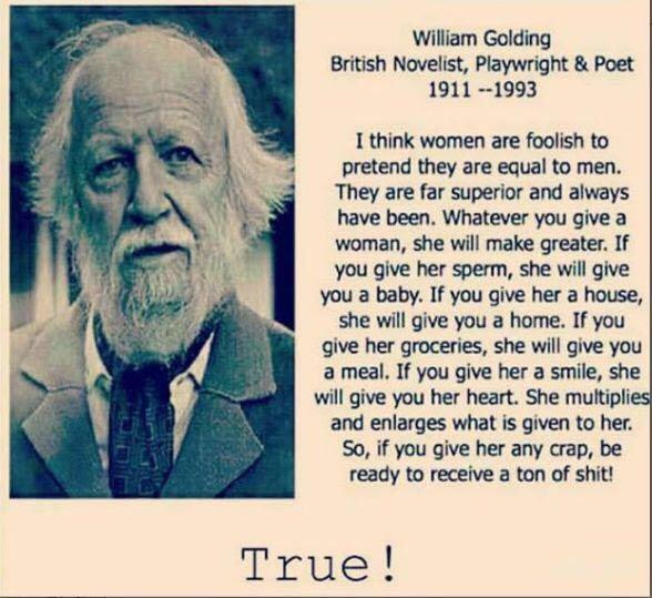 קטע של וויליאם גולדינג על נשים