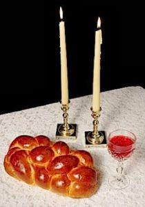 תמטנה של נרות שבת וחלה וקידוש