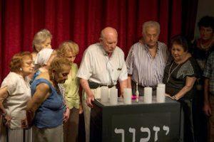 """טקס """"יזכור"""" ביום השואה בקהילה בבואנוס איירס"""