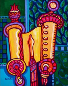 ציור ספר תורה של לורה בולטר (Laura Bolter)